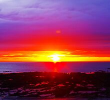Sunrise at Beadnell Bay -2 by charlylou