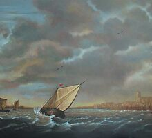 Seascape, after unknown master; probably Dutch. by Esther Boshoff