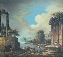 Romantic landscape, after unknown artist by Esther Boshoff