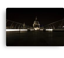 night views from Millenium bridge  Canvas Print