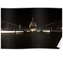 night views from Millenium bridge  Poster