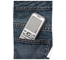 Cellphone in blue jeans Poster