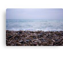pebbles in the sea Canvas Print