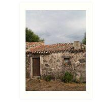Italian Cottage on pre-historic site, Sardinia Art Print