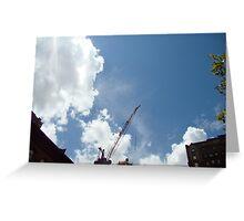 SKY CRANE Greeting Card