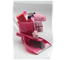 pink cleaning gear Poster