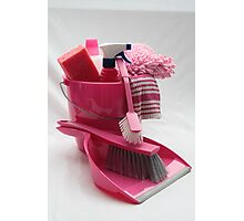 pink cleaning gear Photographic Print