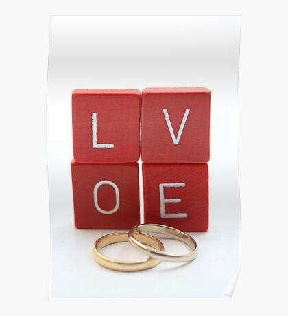 wedding bands = love Poster