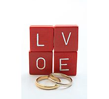 wedding bands = love Photographic Print