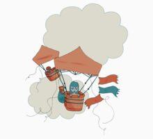 Pop Up Tent Balloons One Piece - Short Sleeve