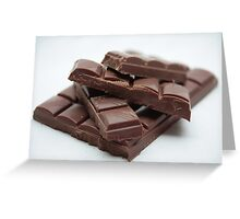 Milk Chocolate bar pieces Greeting Card
