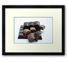 chocolate bar, pure and milk Framed Print