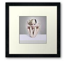 The White table Framed Print