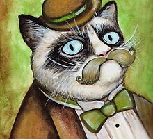 Dapper Grumpy Cat by Megan Mars