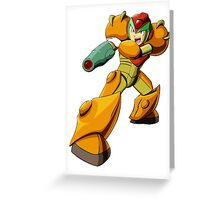 Mega Man X Varia Suit Greeting Card