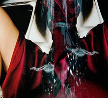 diptych (postmodern portrait in crimson) by ojoblanco