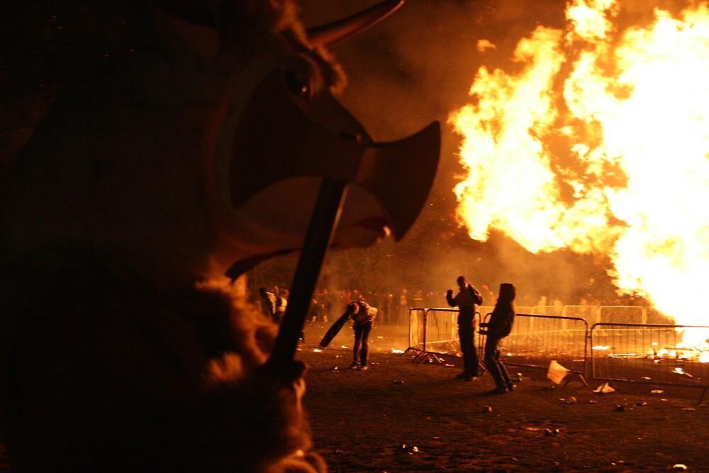 Axe Wielding, Fire breathing Bullman!! by JJFA