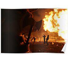 Axe Wielding, Fire breathing Bullman!! Poster