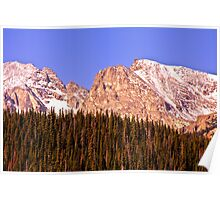 Continental Divide - Indian Peaks - Sunrise Poster