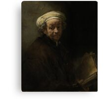 Painting - Self Portrait as the Apostle Paul, Rembrandt Harmensz. van Rijn, 1661 Canvas Print