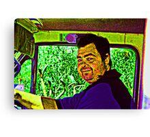 A Truckie... A Portrait Canvas Print