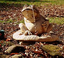 Fred the Frog Fountain in Fall    ^ by ctheworld