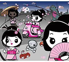 mikoto's Geishas Photographic Print