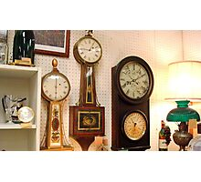 Old Wall Clocks  ^ Photographic Print