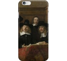 Painting - The Wardens of the Amsterdam Drapers' Guild, Known as 'The Syndics', Rembrandt Harmensz. van Rijn, 1662 iPhone Case/Skin