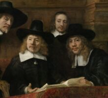 Painting - The Wardens of the Amsterdam Drapers' Guild, Known as 'The Syndics', Rembrandt Harmensz. van Rijn, 1662 Sticker