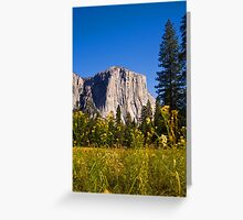 The mighty El Capitan, Yosemite National Park Greeting Card