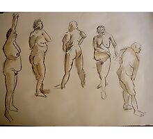 studies of a fat woman- 2 minute drawings Photographic Print