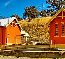 Carcoar Railway Station  by Geoffrey Thomas