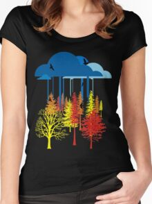 Acid Rain Forest Women's Fitted Scoop T-Shirt