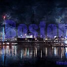 Boston night skyline by Yaroslav  Williams
