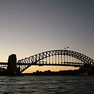 Harbour Bridge at dusk, Sydney by Alex Bonner