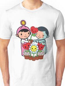 Sharing Happiness Flowers Unisex T-Shirt