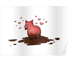 Muddy Piggy Poster