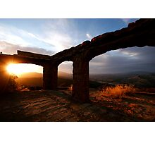 Knapps Castle Sunset Photographic Print