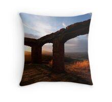 Knapps Castle Sunset Throw Pillow