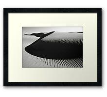 Oceano Dune Curves Framed Print