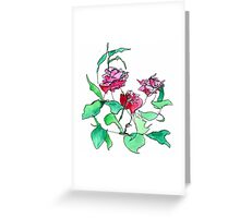 Left handed rose Greeting Card