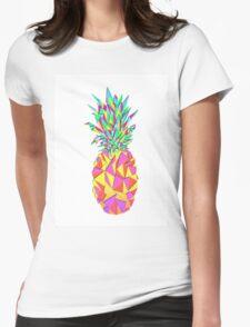 Girly Pink Geometric Triangles Pineapple T-Shirt