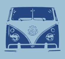 Blue VW Kombi Kids Clothes