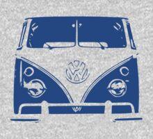 VW Kombi - Blue One Piece - Short Sleeve