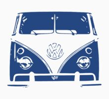 VW Kombi - Blue One Piece - Short Sleeve