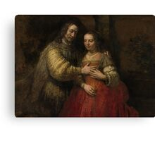 Painting - Isaac and Rebecca, Known as 'The Jewish Bride', Rembrandt Harmensz. van Rijn, c. 1665 - c. 1669 Canvas Print