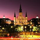 Jackson Square at Dusk by Lori Gagliano