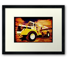 Big Equipment Framed Print