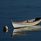A Dory on its Mooring by Sam Davis
